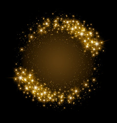 gold glittering star dust circle vector image vector image