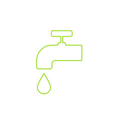 Green icon save environment water concept vector
