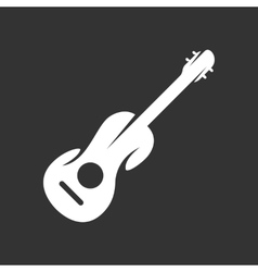 Guitar logo on black background icon vector image