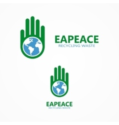 logo or icon combination of a hand and vector image vector image