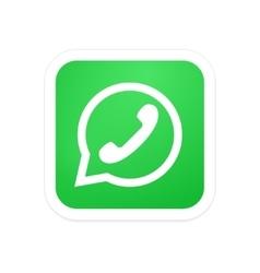 Modern phone icon in bubble speech vector