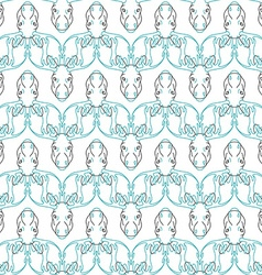 Pattern background with a deer head pattern elk vector
