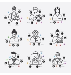 Professions infographic vector