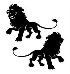 Proud lion vector