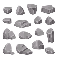 Rocks And Stones Elements vector image