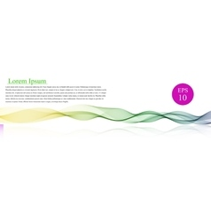 Spectrum wave color abstract wavy vector