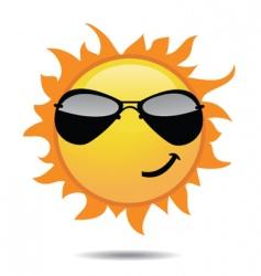 sunny sun vector image vector image