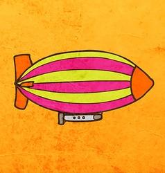 Zeppelin cartoon vector