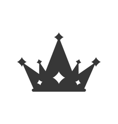 Crown silhouette royal king icon vector