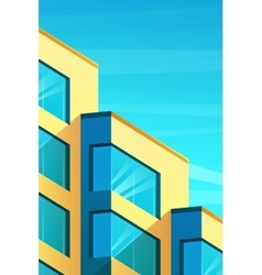 Building in modern style vector