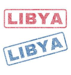Libya textile stamps vector