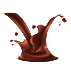 Chocolate splash fondant drops relaistc vector