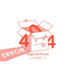 404 error red box line background vector