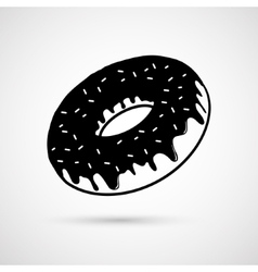 Chocolate donut vector