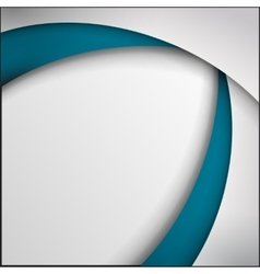 Blue and white curve lines abstract vector