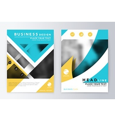 Annual report brochure leaflet cover presentation vector