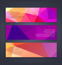 Abstract broght colors web banners set vector