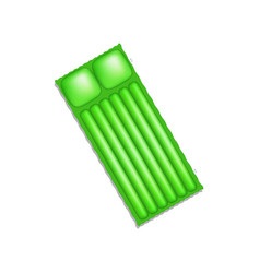 Air mattress in green design with shadow vector