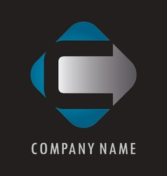 C business logo vector image vector image