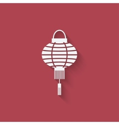 Chinese lantern design element vector image