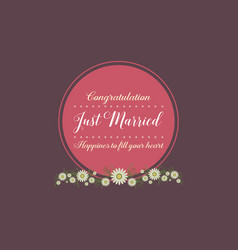 Collection stock of wedding greeting card vector