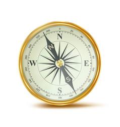 Compass retro style shiny metal case vector