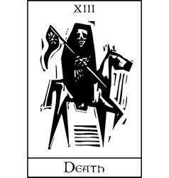 Death tarot card vector