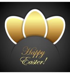 Easter golden eggs vector image vector image