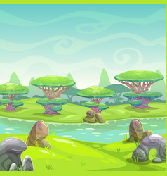 fantasy nature landscape vector image
