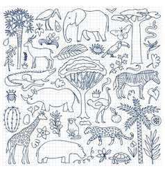 Hand drawn Africa Set vector image vector image