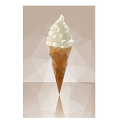 ice cream triangle vector image vector image