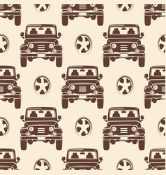 Jeeps seamless pattern design - vintage seamless vector