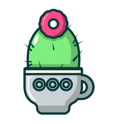 Mammillaria cactus icon cartoon style vector
