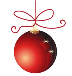 Red Christmas ball decoration vector image