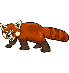 Red panda animal cartoon vector
