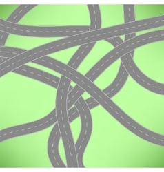 Roads Icon vector image