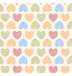 Seamless pattern with ornamental hearts vector image vector image