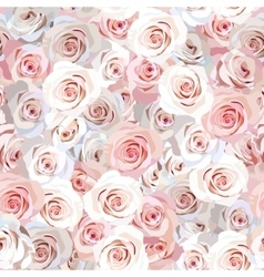 Seamless rose background vector image vector image