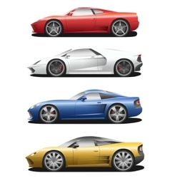 set of sport cars vector image vector image