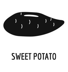 Sweet potato icon simple style vector