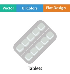 Tablets pack icon vector image vector image