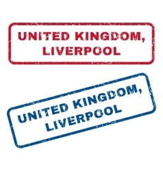 United kingdom liverpool rubber stamps vector