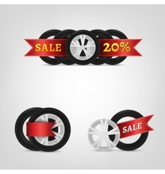 Vecor Tire Collection vector image vector image