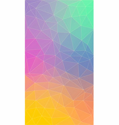 vertical flat polygonal background for smartphone vector image vector image