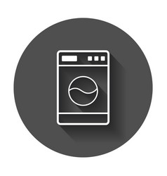 Washer flat icon laundress sign symbol flat with vector