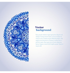 White and blue ornamentwatercolor gzhel doily vector