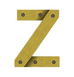 Wood letter z vector