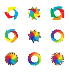 Download colorful icons set cartoon style vector