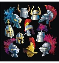 Helmets vector