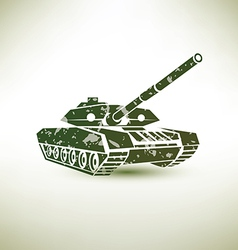 military tank symbol vector image